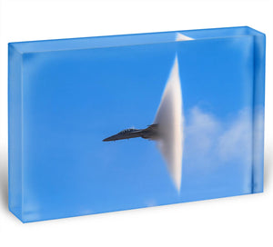 Super Hornet with transonic vapor cone Acrylic Block - Canvas Art Rocks - 1