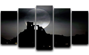 Super Moon at Mow Cop 5 Split Panel Canvas - Canvas Art Rocks - 1