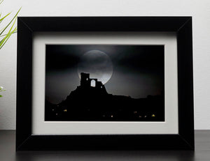 Super Moon at Mow Cop Framed Print - Canvas Art Rocks - 1