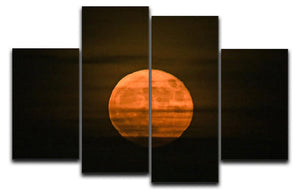 Super moon 4 Split Panel Canvas - Canvas Art Rocks - 1