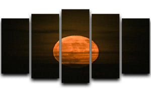 Super moon 5 Split Panel Canvas - Canvas Art Rocks - 1