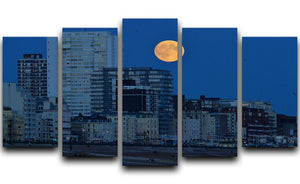 Super moon over Brighton 5 Split Panel Canvas - Canvas Art Rocks - 1