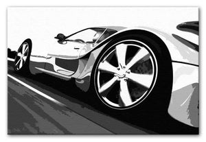Supercar Close-Up Print - Let It Rip - Canvas Art Rocks - 1