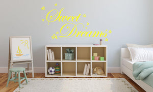 Sweet Dreams Wall Sticker - Canvas Art Rocks - 1