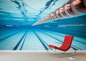 Swimming pool under water Wall Mural Wallpaper - Canvas Art Rocks - 2