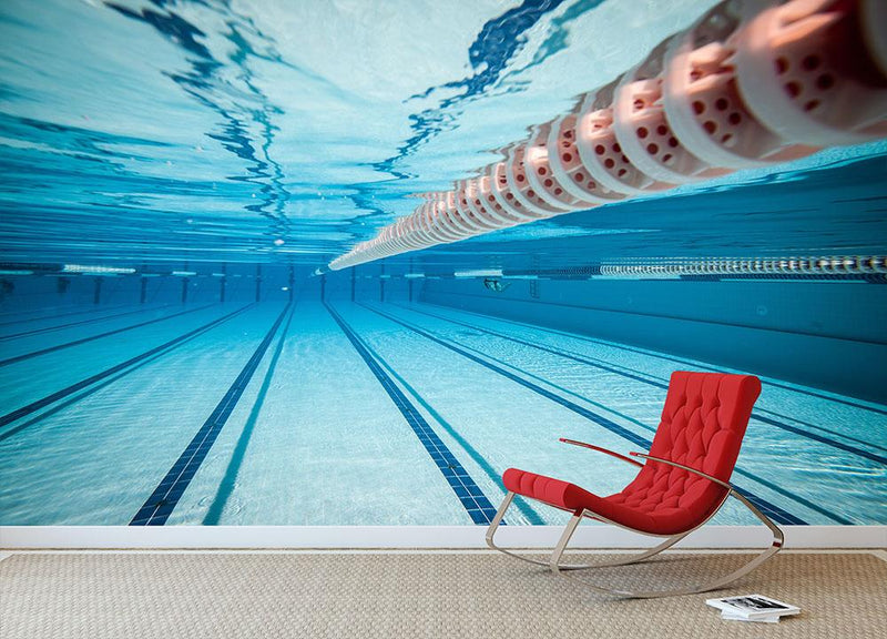 Swimming pool under water Wall Mural Wallpaper - Canvas Art Rocks - 1