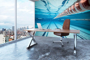 Swimming pool under water Wall Mural Wallpaper - Canvas Art Rocks - 3