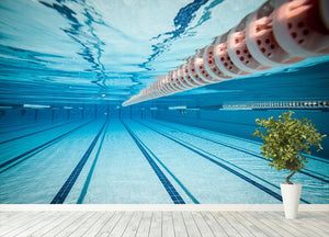 Swimming pool under water Wall Mural Wallpaper - Canvas Art Rocks - 4