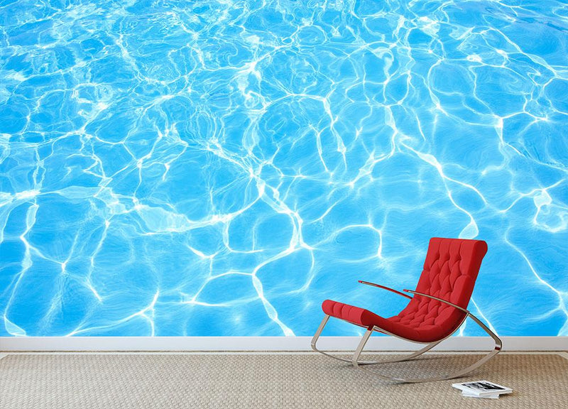 Swimming pool water Wall Mural Wallpaper - Canvas Art Rocks - 1