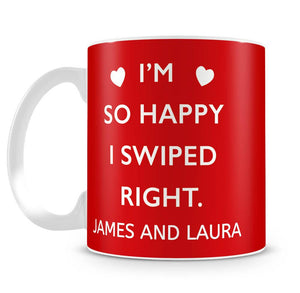 Swiped Right Photo Upload Personalised Mug
