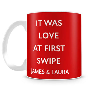 Love At First Swipe Personalised Mug