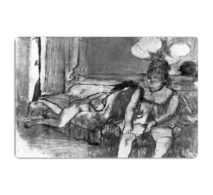 Taking a rest by Degas HD Metal Print - Canvas Art Rocks - 1