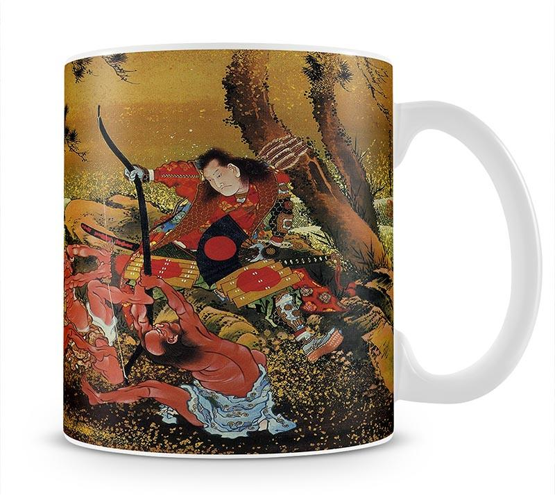 Tametomo and the demons by Hokusai Mug - Canvas Art Rocks - 1