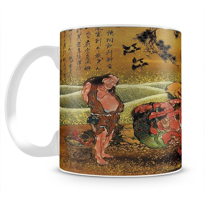 Tametomo and the demons by Hokusai Mug - Canvas Art Rocks - 2