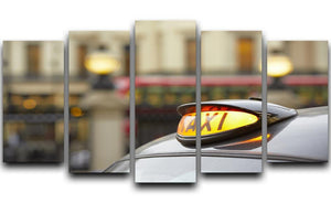 Taxi car selective focus 5 Split Panel Canvas  - Canvas Art Rocks - 1