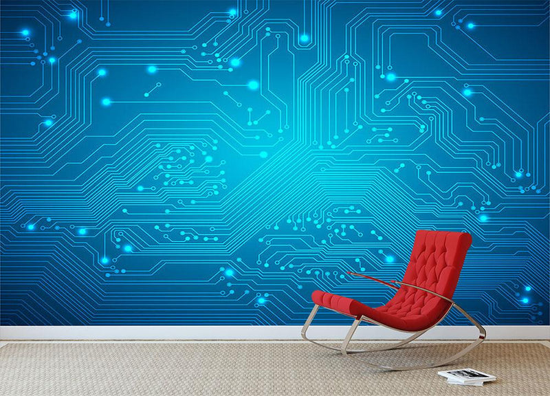 Technological vector Wall Mural Wallpaper - Canvas Art Rocks - 1