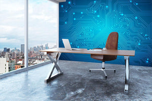Technological vector Wall Mural Wallpaper - Canvas Art Rocks - 3