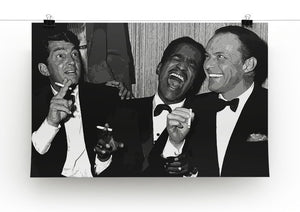 The Rat Pack Rocking With Laughter Print - Canvas Art Rocks - 2