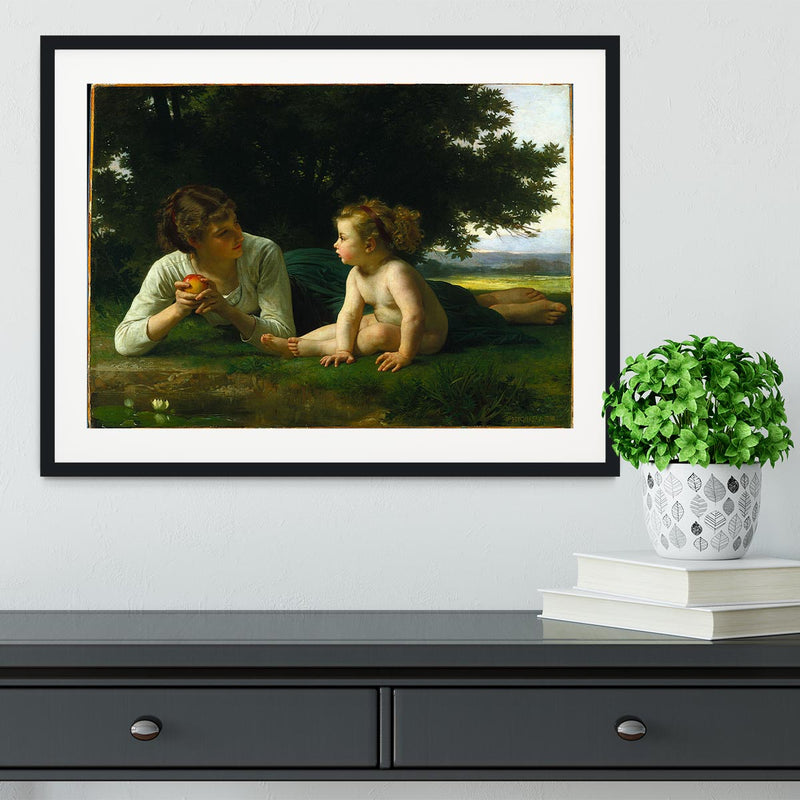 Temptation By Bouguereau Framed Print - Canvas Art Rocks - 1
