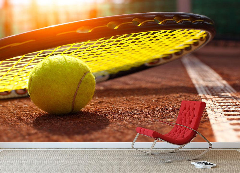 Tennis ball Wall Mural Wallpaper - Canvas Art Rocks - 1