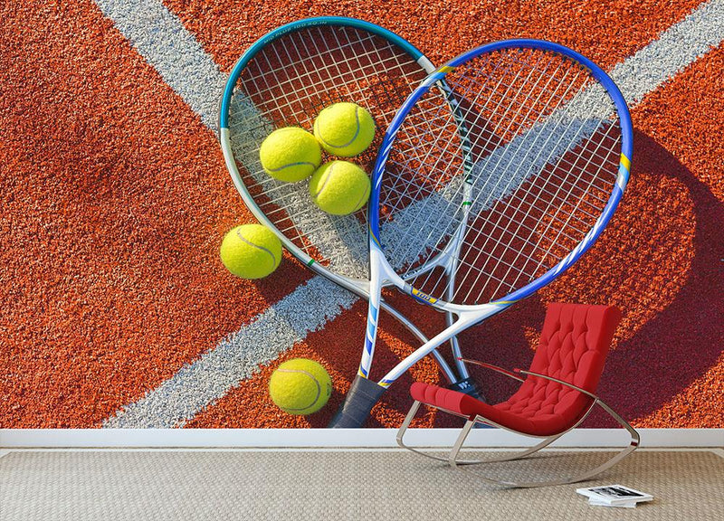 Tennis equipment Wall Mural Wallpaper - Canvas Art Rocks - 1