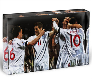 Terry Lampard Gerard and rooney England Acrylic Block - Canvas Art Rocks - 1
