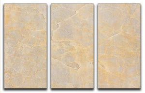 Textured Beige Marble 3 Split Panel Canvas Print - Canvas Art Rocks - 1