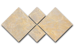 Textured Beige Marble 4 Square Multi Panel Canvas - Canvas Art Rocks - 1