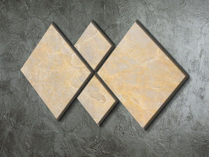 Textured Beige Marble 4 Square Multi Panel Canvas - Canvas Art Rocks - 2