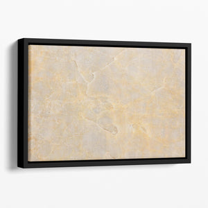 Textured Beige Marble Floating Framed Canvas - Canvas Art Rocks - 1