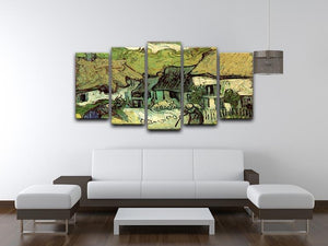 Thatched Cottages in Jorgus by Van Gogh 5 Split Panel Canvas - Canvas Art Rocks - 3
