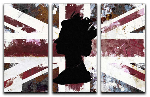 The Queen's Head 3 Split Canvas Print - They'll Love Wall Art