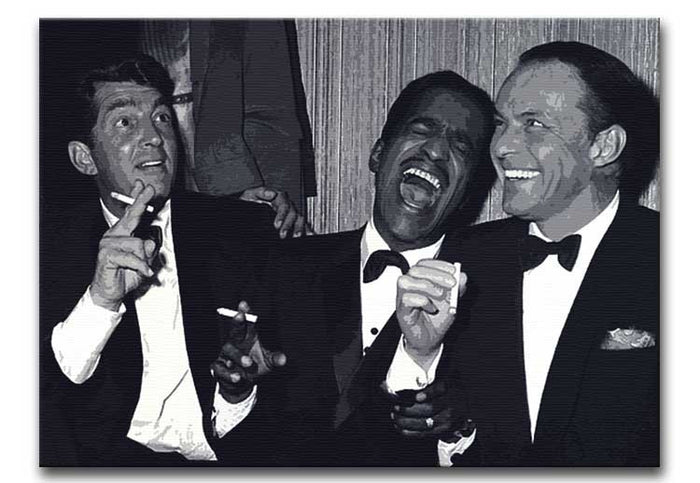 The Rat Pack Rocking With Laughter Canvas Print or Poster