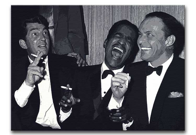 The Rat Pack Rocking With Laughter Print - Canvas Art Rocks - 1