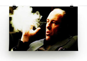 Tony Soprano Cigar Smoke Print - Canvas Art Rocks - 2