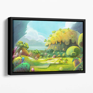 The Adventure of The Tiny Bird Floating Framed Canvas