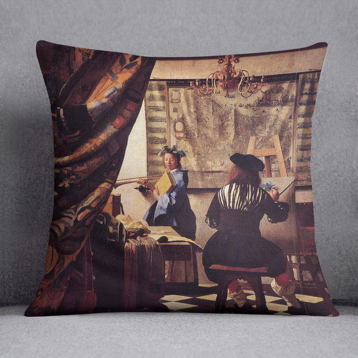 The Allegory of Painting by Vermeer Cushion