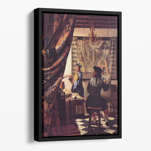 The Allegory of Painting by Vermeer Floating Framed Canvas