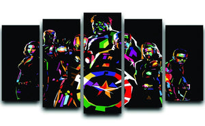 The Avengers Pop Art 5 Split Panel Canvas  - Canvas Art Rocks - 1