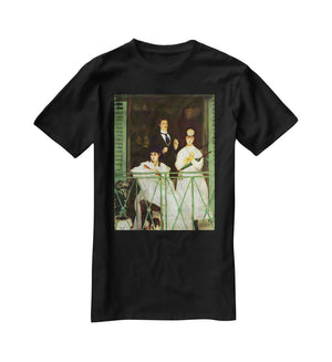 The Balcony by Manet T-Shirt - Canvas Art Rocks - 1