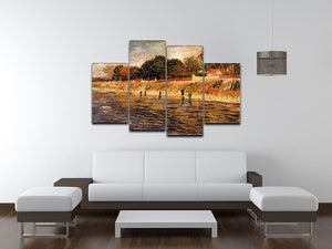 The Banks of the Seine by Van Gogh 4 Split Panel Canvas - Canvas Art Rocks - 3