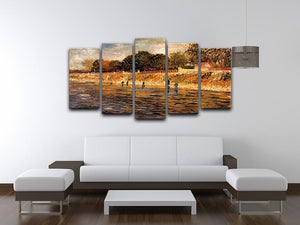 The Banks of the Seine by Van Gogh 5 Split Panel Canvas - Canvas Art Rocks - 3