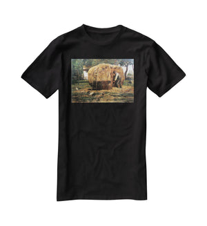 The Barnyard by Hassam T-Shirt - Canvas Art Rocks - 1