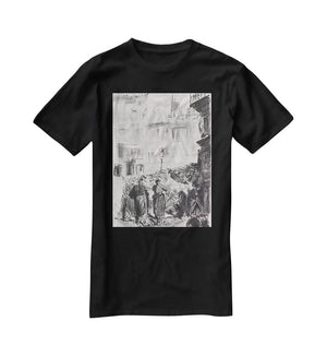 The Barricade by Manet T-Shirt - Canvas Art Rocks - 1