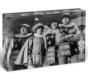 The Beatles dressed in Elizabethan costume for a TV show Acrylic Block - Canvas Art Rocks - 1