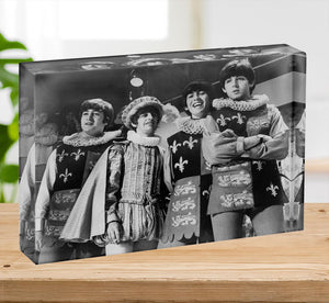 The Beatles dressed in Elizabethan costume for a TV show Acrylic Block - Canvas Art Rocks - 2