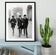 The Beatles in Paris Framed Print