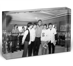 The Beatles meet Muhammad Ali Acrylic Block - Canvas Art Rocks - 1