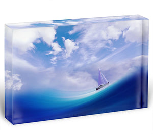 The Blue Sea Acrylic Block - Canvas Art Rocks - 1