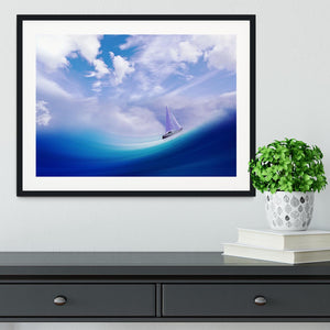 The Blue Sea Framed Print - Canvas Art Rocks - 1